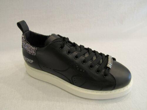 A966 In Glitter Nera Ama Sul Argento Tallone Con Sneakers Pelle Donna Zt0dqx