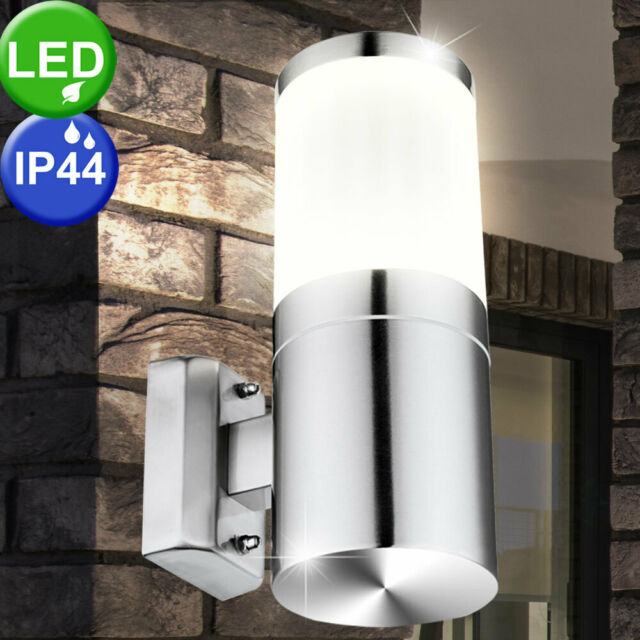 IP44 Energy Saving Stainless Steal and Plastic Wall Light