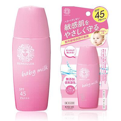 Isehan SUNKILLER UV Baby Milk Sunscreen SPF45+/PA+++ 30mL Sensitive skin Japan