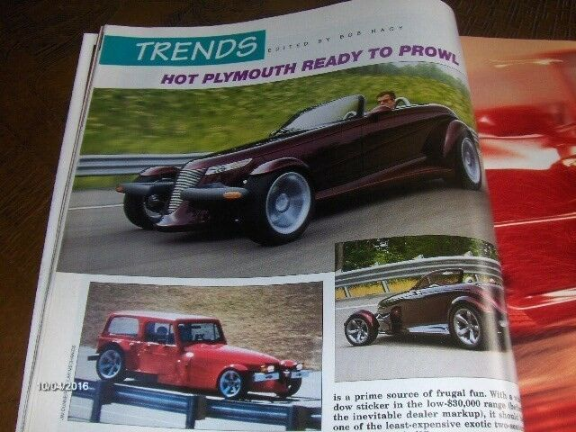 HÆFTE: MOTOR TREND - JULY 1995, emne: bil og motor