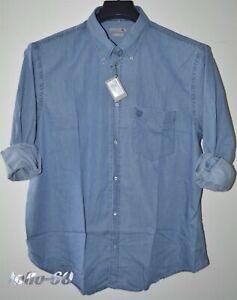 CAMICIA-Jeans-UOMO-Taglie-forti-3XL-4XL-5XL-6XL-calibrata-over-size-tela-leggera