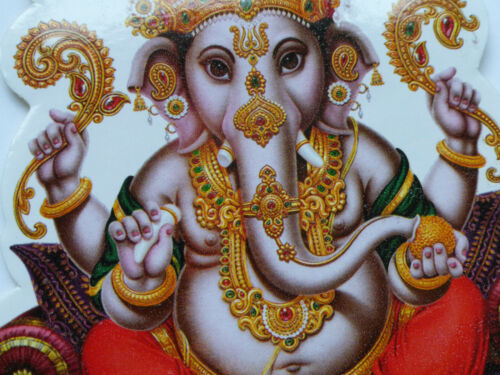 5 * señor Ganesh * Aprox 14.5 cm X 13.1 Cm XLarge Hindú Pegatina