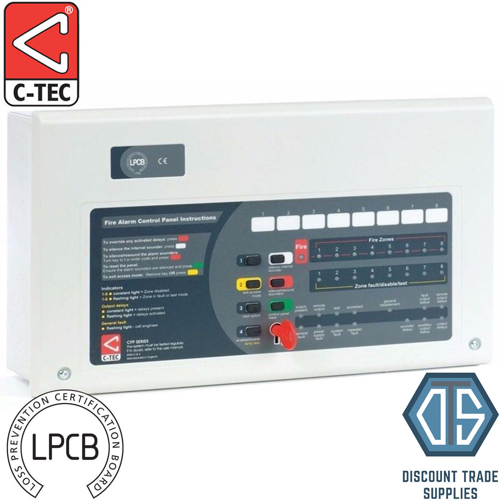 C-TEC PPC economía 8 zona convencional panel de alarma contra incendios CFP708E-4 CTEC CFP708E