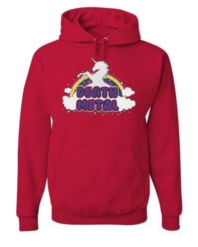 Unicorn Metal Rainbow Sweatshirt Hoodie Death Music Hilarious Cute Heavy S1qrSUw