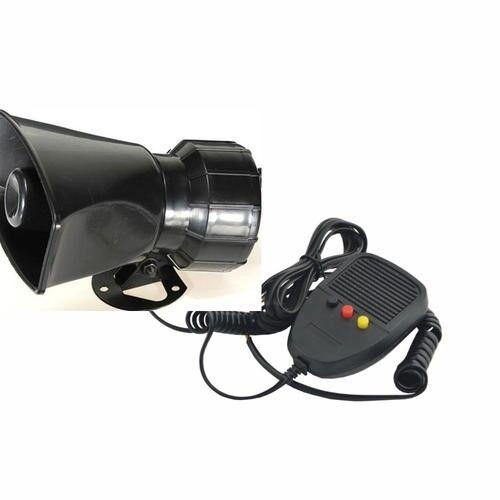 DC12V 3 Sound Tone Car Speakers or Motorcycle Warning Siren Alarm loudspeaker with Mic