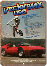 "Vector BMX, Racing, RAD 10"" x 7"" retro metal sign"