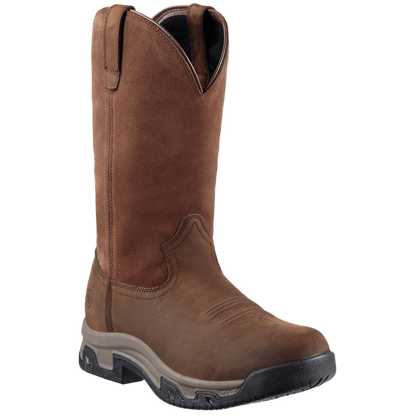 Ariat® Men's Terrain Pull-on H2O Distressed Brown Waterproof Boots 10011829