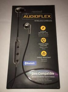30aede3bad0f01 Image is loading Remixd-Audioflex-Bluetooth-Earbuds-Black-Headphones -amp-Mic-