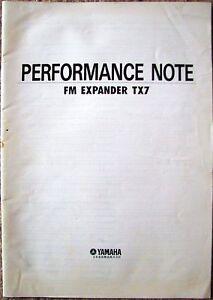 Yamaha-TX7-Performance-Notes-Programming-Templates-Document-Booklet