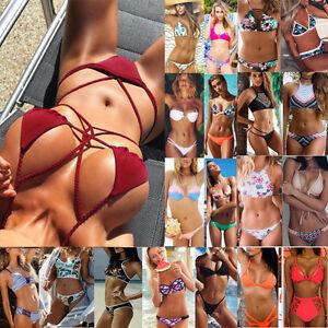 Sexy-Ladies-Bikini-Set-Bandage-Push-Up-Padded-Bra-Swimwear-Swimsuit-Bathing-Y948