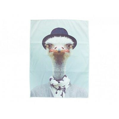 Zoo Portrait - Tea Towel - Ostrich Made from micro fibre they are durable