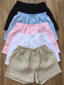 Men-039-s-Boxer-Shorts-100-Linen-Organic-Eco-Friendly-Underwear-Breathable-Trunks