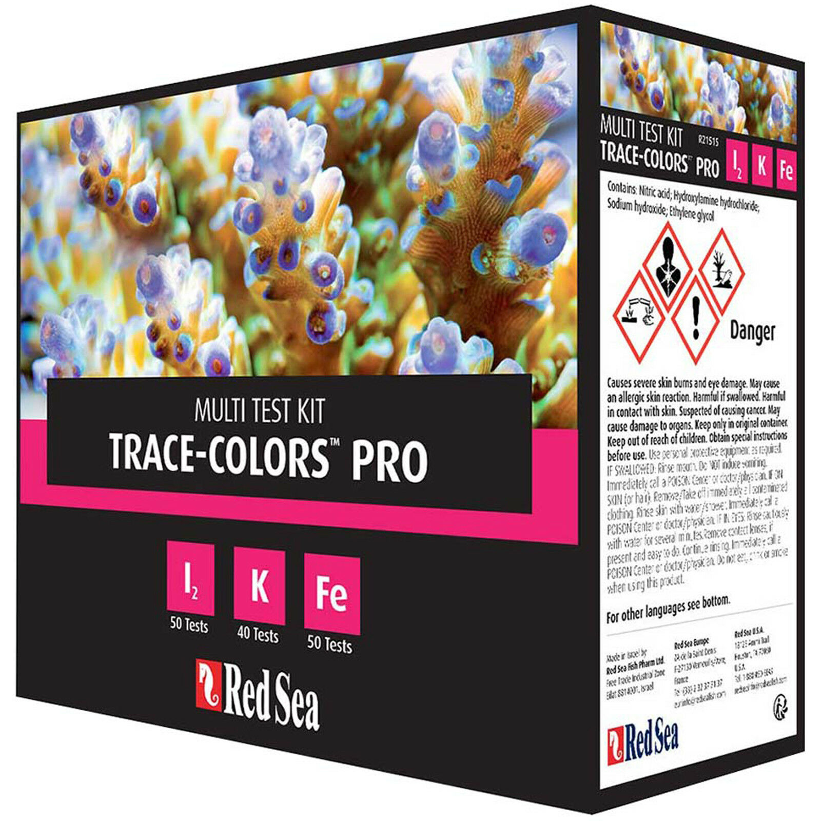 Red Sea Test Kit Reef Colores Colores Colores Pro Trace Colore Pro Test Kit Fast Free USA Shipping 8ecbbe