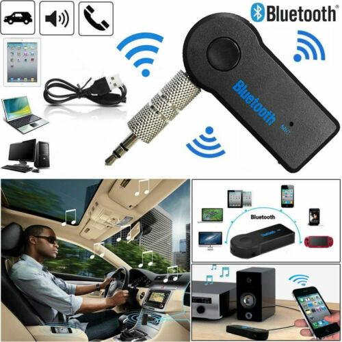 Wireless 3.0 Bluetooth Audio Receiver 3.5mm AUX Car Music Adapter Dongle W / Mic