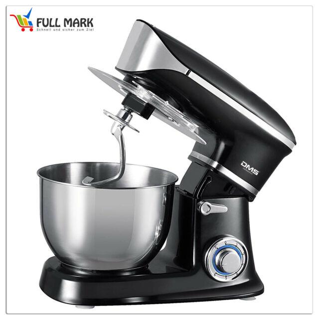 Küchenmaschine Rührmaschine Knetmaschine Teigkneter Schwarz 6L 1900 W DMS®