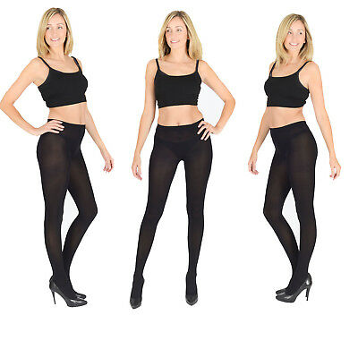 Beliebte Marke Opaque Black Tights, Extra Thick 40, 60,100 Denier, Womens Ladies S M L Xl V1
