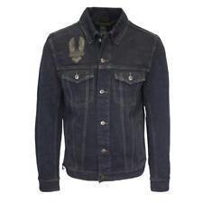 Harley-Davidson Men's Black Winged Denim Button Up Jacket (Retail $170) S07