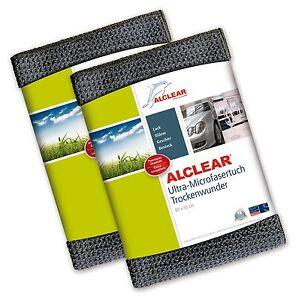 ALCLEAR-2-er-Set-Ultra-Microfasertuch-TROCKENWUNDER-Maxi-grau-820901M