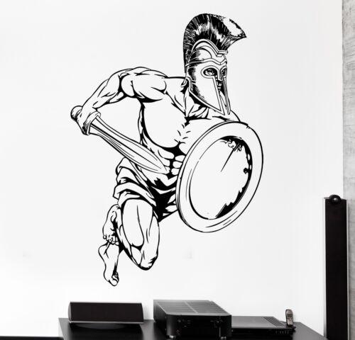z3007 Wall Sticker Sport Sparta Spartan Soldier Gladiator Warrior