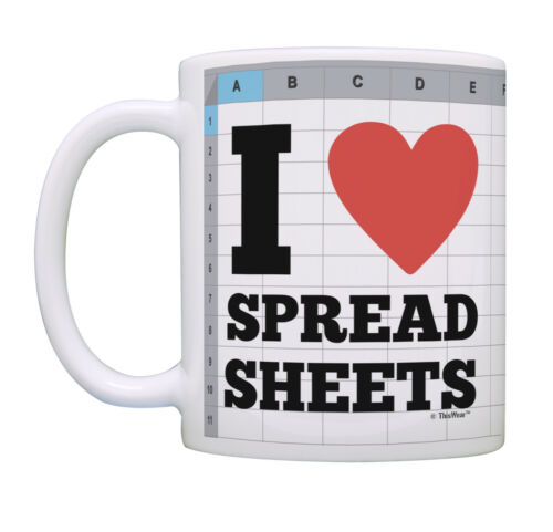 Accounting Gifts I Heart Spreadsheets Accountant Gifts for Coffee Mug Tea Cup