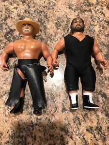 Vintage Awa Remco Jerry Blackwell et Stan Hansen Grudge Pack Wrestling Figures.