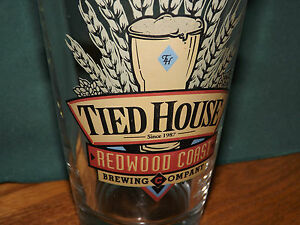 Tied House Redwood Coast Brewing Company Beer Glass Mountain View
