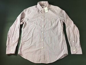 J-Crew-New-Mens-Red-Blue-Plaid-Front-Pocket-Button-Front-Shirt-Size-Medium