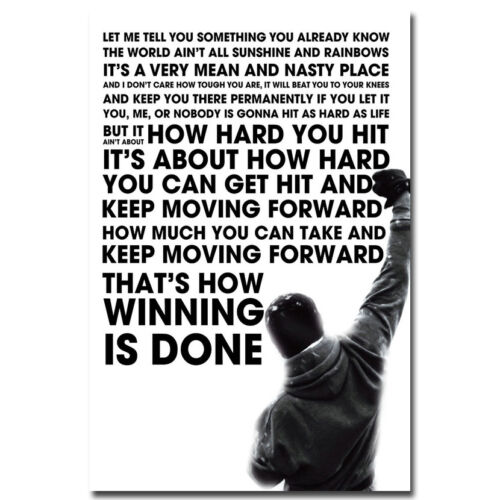 Rocky Balboa Inspirational Motivational Movie Quote Poster 13x20 24x36 inches 02