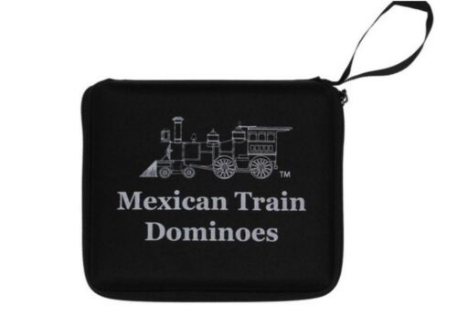 Travel Double Twelve 12 Mexican Train Dominoes Set FREE SHIPPING /& Domino Case
