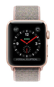 detailed look 33b17 e39ea Apple Watch Series 3 42mm Gold Aluminium Case with Pink Sand Sport Loop  (GPS + Cellular) - (MQK72LL/A)