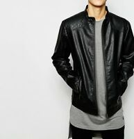 Mens Leather Biker jacket Brand New With Tag Leather Bomber Jacket Coat Designer