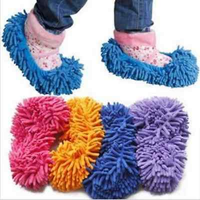 1Pcs Floor Dust Clean Shoes Mop House Clean Shoe Cover Multi function Slippers