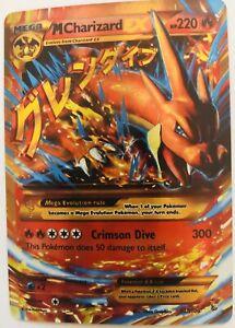 Pokemon-EX-Karte-M-Glurak-EX-Feuer-Selten-Holo-EX