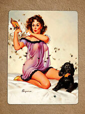 Metal sign vintage Retro style Gil Elvgren sexy Pin Up girl Tin wall door plaque