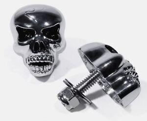 TESCHIO-VITI-XL-RICONOSCIMENTO-metallo-cromo-nero-per-Harley-Sportster
