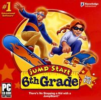 Jumpstart 6th Grade Jump Start Ages 9-12 (pc Cd-rom) Sealed