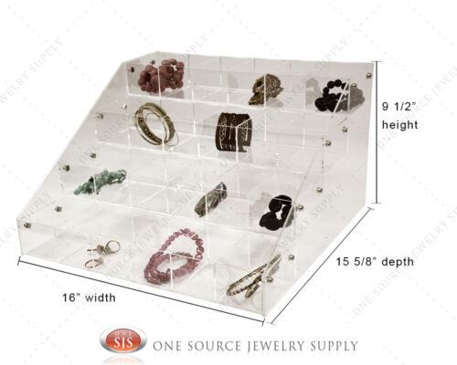 Makeup Jewelry Organizer Acrylic Organizer Display Showcase Countertop Display