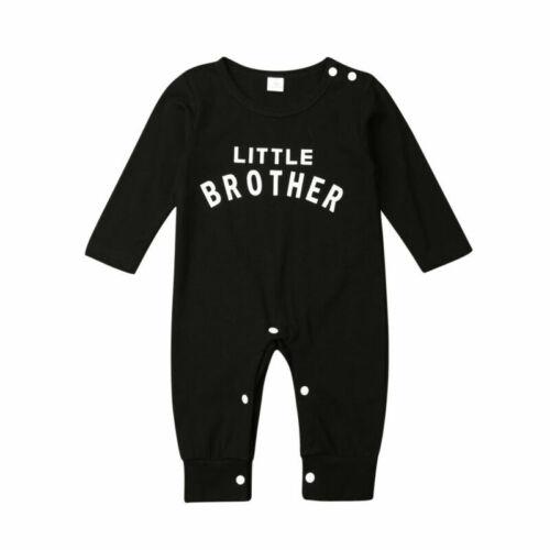Newborn Baby Boys Clothes Little Brother Romper Bodysuit Jumpsuit Autumn Outfits