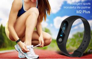 Details zu Fitness Tracker M2 Band Schrittzähler Pulsmesser Smartband APP  für IOS & Android