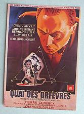 CP DU FILM - QUAI DES ORFEVRES - NUGERON E40 *