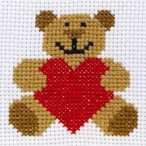 Anchor Beginners 1st Cross Stitch Kit Ed Teddy Bear 10004 Ebay