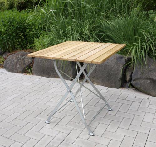 Gartentisch Klapptisch Biergartentisch Biergarten Möbel Tisch BAD TÖLZ 70x70cm