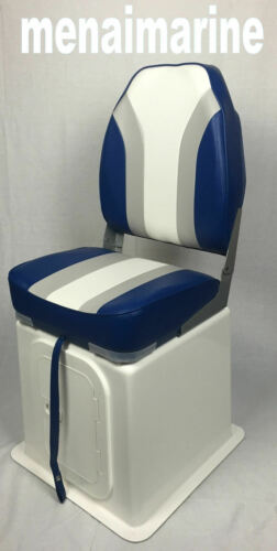 Large high back boat seat folding 360 swivel and hatch with seat storage box