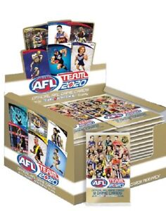 2020-AFL-TEAMCOACH-TEAM-COACH-FOOTY-TRADING-CARDS-SEALED-BOX-36-PACKS