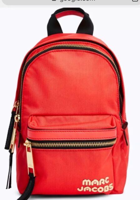 a519a505c01 Marc Jacobs M0014032 Trek Pack Mini Backpack Polyster Bag Logo Front ...