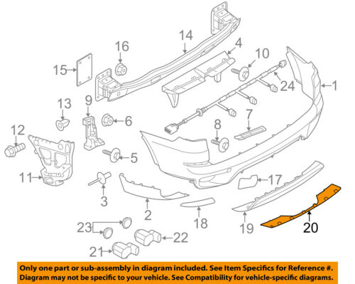 BMW OEM 11-13 X5 Rear Bumper-Protect Shield 51127227841