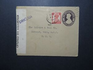 India-1944-Uprated-Censored-Cover-to-USA-I-Z11682