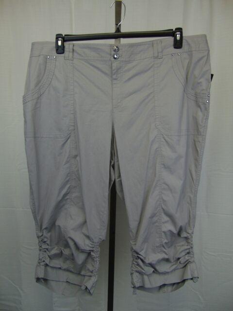 771efc6abb0 Inc International Concepts Plus Size Ruched Cargo Pants Sky Grey 24w ...