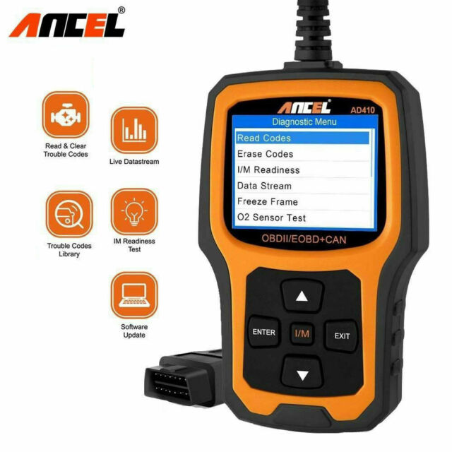 Vehicle Code Reader >> Ancel Ad410 Vehicle Code Reader Obd2 Scanner Black Yellow