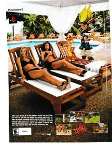 2001 VINTAGE PRINT AD PLAYSTATION 2 .JAK AND DAXTER PRECURSOR LEGACY...AD ONLY